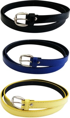 Verceys Girls, Women Casual Black, Blue, Yellow Artificial Leather Belt