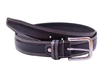 AER LEATHER Boys, Men Formal Black Genuine Leather Belt