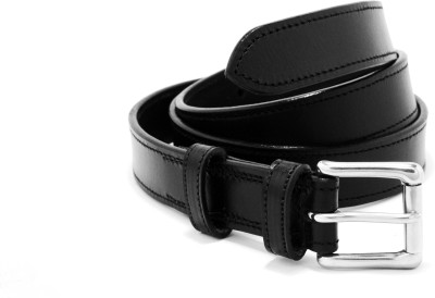 Midwest Men Casual Black Genuine Leather Belt