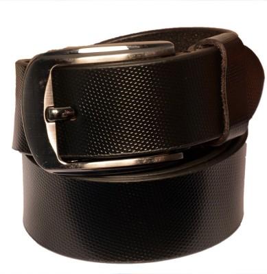 Cops Men Formal Black Genuine Leather Belt