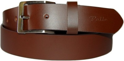 Pelle Men Formal Brown Genuine Leather Belt