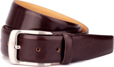 Ohm Leather Men Formal, Evening Brown Genuine Leather Belt