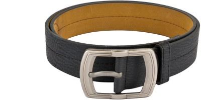 Mango People Men Casual Black Artificial Leather Belt