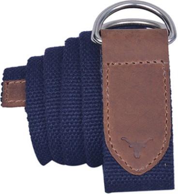 HIDEKRAFT Men, Women Casual Blue Canvas Belt