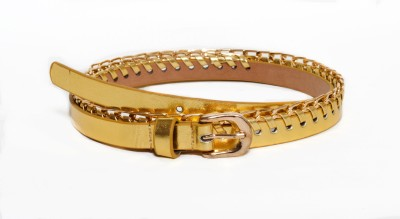 Crux&Hunter Girls Gold Artificial Leather Belt