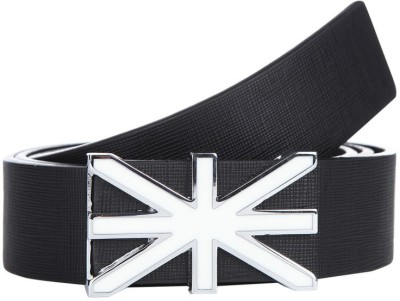 American Swan Men Casual Black Synthetic Belt