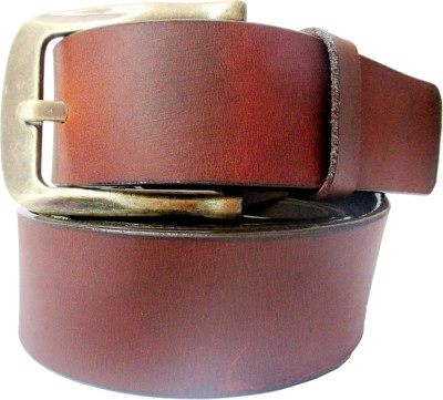 TSI Men Casual Brown Genuine Leather Belt