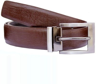 KRG ENTERPRISES Men Casual, Party, Formal Maroon Genuine Leather Belt