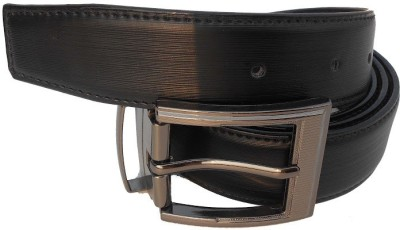 B.S.Chadha Group Men Formal Black Artificial Leather Reversible Belt