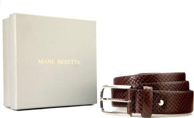 Mane Beretta Men Brown Genuine Leather Belt