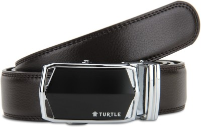 Turtle Men Evening Brown Genuine Leather Belt
