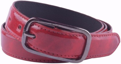 Modishera Women, Girls Casual, Party Red Artificial Leather Belt