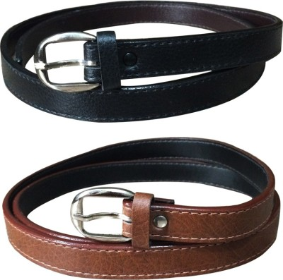 Verceys Women Casual Black, Tan, Brown Artificial Leather Belt
