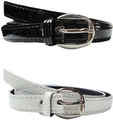 Exclusive Luks Women Casual White Artificial Leather Belt
