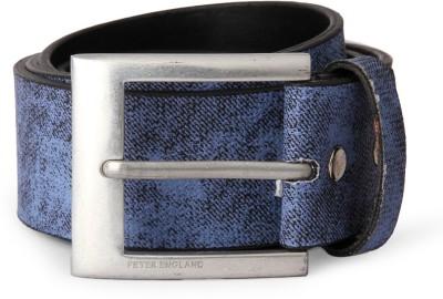 Peter England Men Blue Genuine Leather Belt