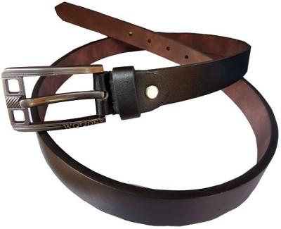 DCS Men Casual Black Artificial Leather Belt