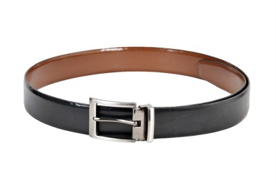 Ligans Ny Men Formal Black, Brown Genuine Leather Reversible Belt