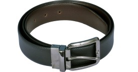 BLAZEMAN Men Black Genuine Leather Belt