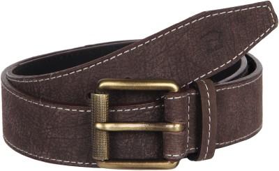 Kaizu Men Casual Grey Genuine Leather Belt