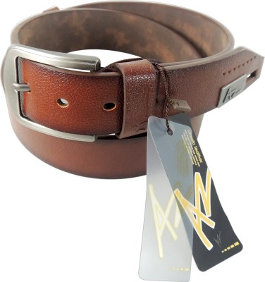 AZ Men Casual Brown Genuine Leather Belt