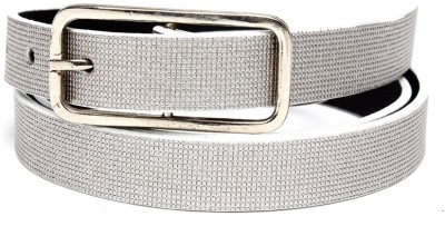 TOBO Women Casual Grey Synthetic Belt