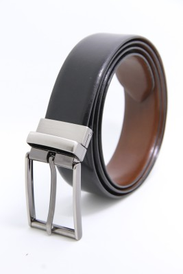 The Clownfish Men Formal Black, Brown Genuine Leather Reversible Belt