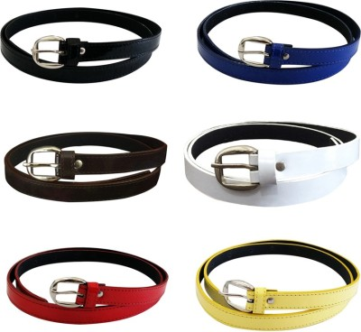 Verceys Women Casual Black, Blue, Brown, White, Red, Yellow Artificial Leather Belt