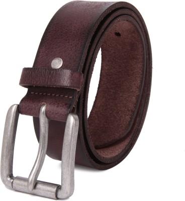 NEUBUCK Men Purple Genuine Leather Belt