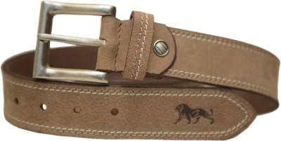Leefab Men Casual Tan Genuine Leather Belt