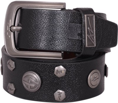 AZ Men Black Genuine Leather Belt