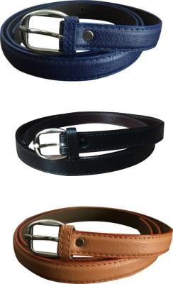Verceys Girls Casual Blue, Tan, Black Artificial Leather Belt