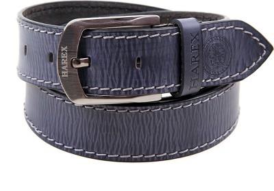Harex Men, Boys Casual, Evening, Formal, Party Blue Genuine Leather Belt