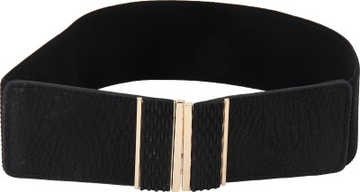 Naitik Products Women Casual Black, Gold Synthetic Belt