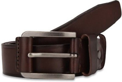 Turtle Men Formal Brown Genuine Leather Belt
