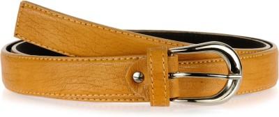 Allura Women Evening/Party, Casual, Semi-formal Yellow Synthetic Belt