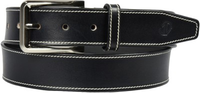 James Aston Men Black Genuine Leather Belt