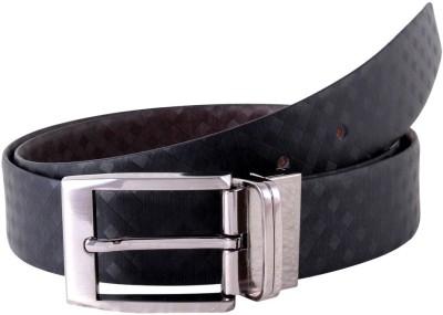 KOLT Boys, Men Party, Formal Black, Brown Genuine Leather Reversible Belt