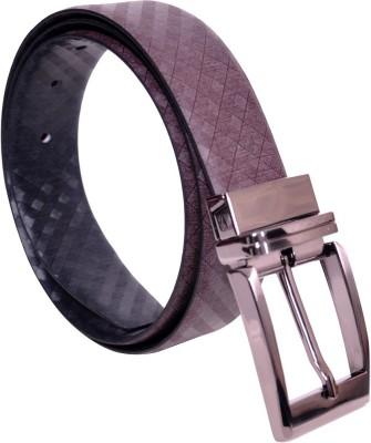 KOLT Boys, Men Party, Formal Brown, Black Genuine Leather Reversible Belt