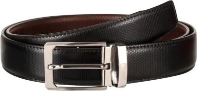 Orkee Men Formal Black Artificial Leather Reversible Belt