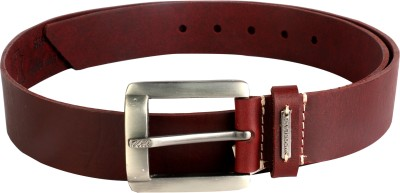 Woodland Men Red Genuine Leather Belt