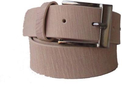 Klaska Men Casual Tan Artificial Leather Belt