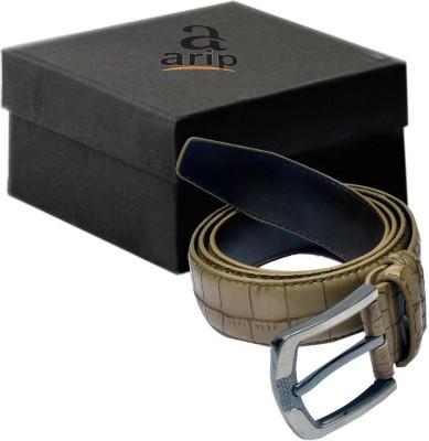 ARIP Men, Boys Formal Grey Texas Leatherite Belt