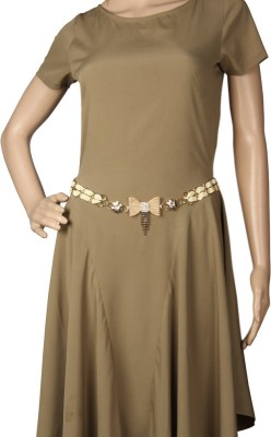 Goguava Girls, Women Party White Fabric Belt