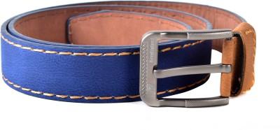 Drakemen Men Casual, Formal Blue Genuine Leather Belt