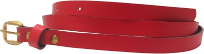 Miss Chase Women Casual Red Artificial Leather Belt