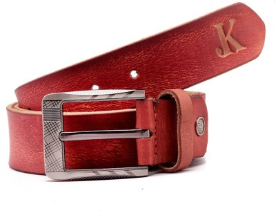 Junckers Men, Boys, Girls Casual, Party, Evening Red Genuine Leather Belt