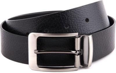 Ruchiworld Boys, Men Casual Black Genuine Leather Belt