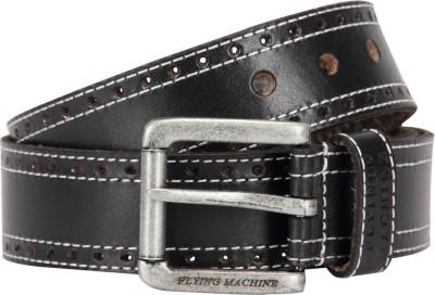 Flying Machine Men Maroon Genuine Leather Belt