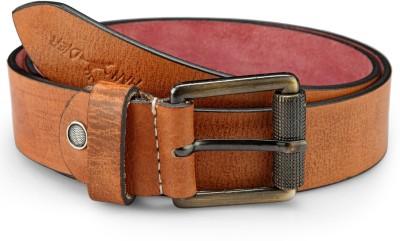 Randier Men Casual Tan Genuine Leather Belt