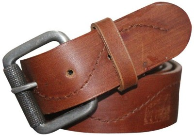 Haywire Men Casual Tan Genuine Leather Belt